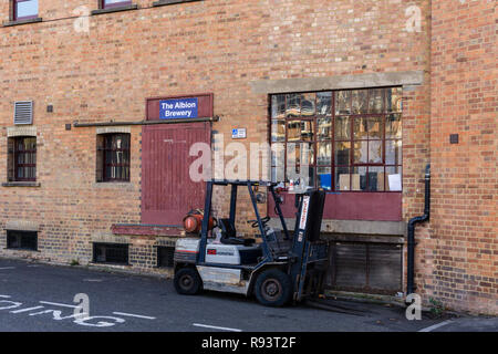 The Albion Brewery, a small local brewery based on the site of the old Phipps brewery; Northampton, UK - Stock Photo