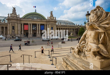 PARIS, FRANCE, SEPTEMBER 5, 2018 - View of the facade of the Grand Palais (The Great Palace) in Paris, France. - Stock Photo