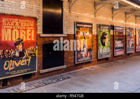 west end show advertising posters - Stock Photo
