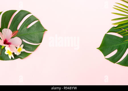 Tropical green leaves - Stock Photo