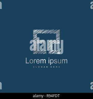 Initial Letter EZ Logo Template Vector Design - Stock Photo