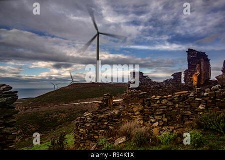 old abandoned village it's name Sazak - Stock Photo
