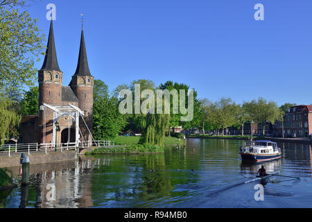 Drawbridge at the Eastern Gate, Delft, Holland, The Netherlands - Stock Photo