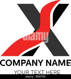 X Letter Logo Template vector icon design. Vector, illustration, eps10. - Stock Photo