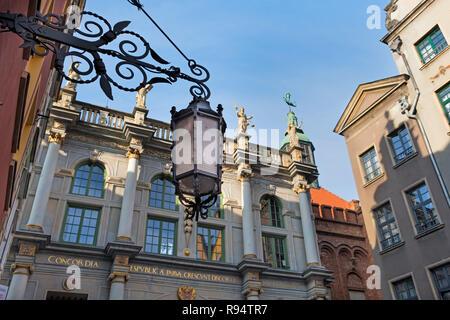 Golden Gate Dlugi Targ Long Market street Gdańsk Poland - Stock Photo