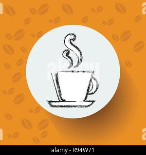 Hand Drawn Sketch Coffee Cup Vector Illustration - Stock Photo