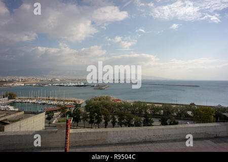 I stayed at Piraeus while in Athens. It was quiet & relaxing during my winter stay & all the liveliness of downtown was only a few metro stops away. - Stock Photo