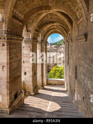 Palazzo dei Consoli in Gubbio, Province of Perugia, in the Umbria region of Italy. - Stock Photo