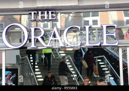 The Oracle entrance in Reading, UK - Stock Photo