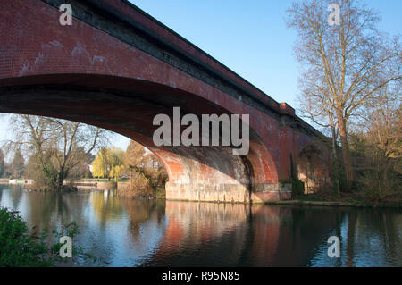 Isambard Kingdom Brunel's Railway Bridge at Maidenhead. England. - Stock Photo