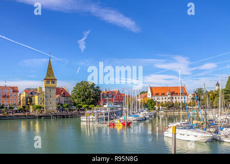 Lindau am Bodensee, Lake Constance, Germany - Stock Photo