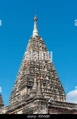 Maha Bodhi Pagoda, Mahabodhi paya, Old Bagan, Myanmar, Burma - Stock Photo