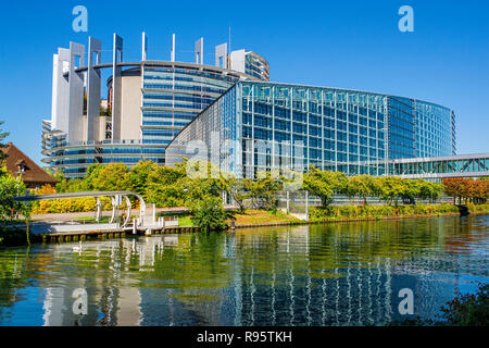 Building of the European Parliament in Strasbourg (France) - Stock Photo