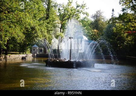 Peterhof Palace at St Petersburg Russia - Stock Photo