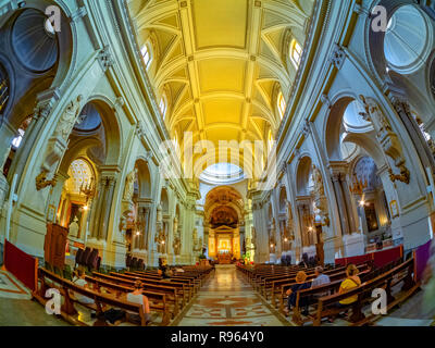 Palermo Cathedral, (inside Metropolitan Cathedral of the Assumption of Virgin Mary) in Sicily island, Italy - Stock Photo