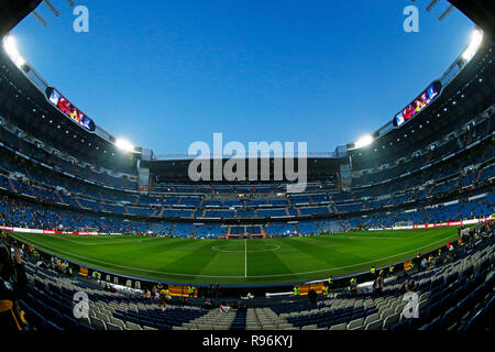 Madrid, Spain. Credit: D. 9th Dec, 2018. Bernabeu stadium Football/Soccer : Copa Libertadores final match between River Plate 3-1 Boca Juniors at Bernabeu stadium in Madrid, Spain. Credit: D .Nakashima/AFLO/Alamy Live News - Stock Photo