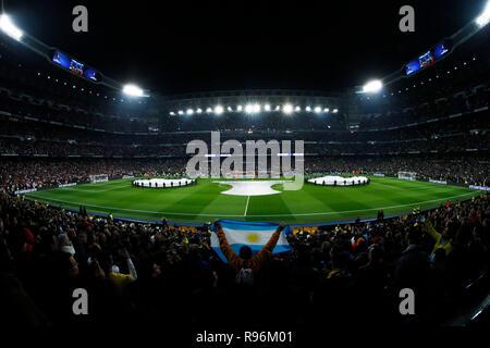 Madrid, Spain. Credit: D. 9th Dec, 2018. General view Football/Soccer : Copa Libertadores final match between River Plate 3-1 Boca Juniors at Bernabeu stadium in Madrid, Spain. Credit: D .Nakashima/AFLO/Alamy Live News - Stock Photo