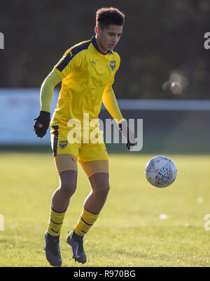 Abingdon, Oxfordshire, UK. 20th Dec 2018. Kyran Lofthouse of Oxford United U18 during the EFL Youth Alliance Under 18 South West league match between Oxford United U18 and Bournemouth U18 at Abingdon United, Northcourt Road, England on 20 December 2018. Photo by Andy Rowland. Credit: Andrew Rowland/Alamy Live News - Stock Photo