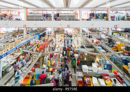 A wide view of Tekka Market in Tekka Centre at Little India, Singapore. - Stock Photo