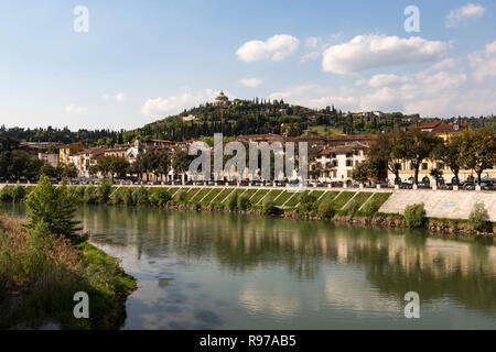 View of Santuario della Madonna di Lourdes - Stock Photo