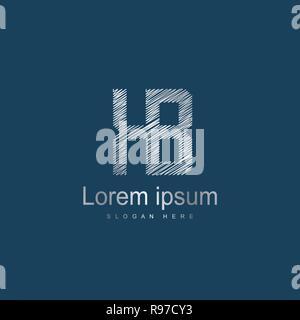 Initial Letter KB Logo Template Vector Design. Abstract letter logo design - Stock Photo