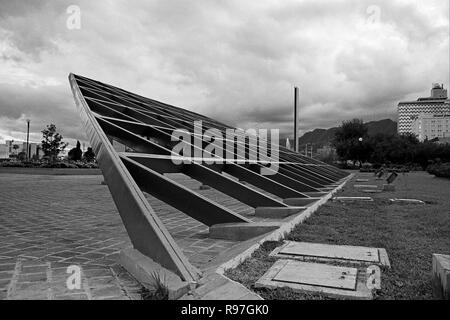 MONTERREY, NL/MEXICO - NOV 10, 2003: Unidentified steel sculpture at the Macroplaza - Stock Photo