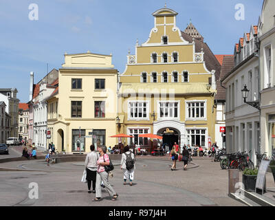 The old Lion-pharmacy in Wismar - Stock Photo