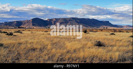 Glass Mountains, situated in the north tip of the Chihuahuan Desert, as seen from Alpine, Texas. - Stock Photo