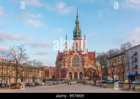 St Joseph Church - a historic Roman Catholic church in south-central part of Krakow, Poland - Stock Photo