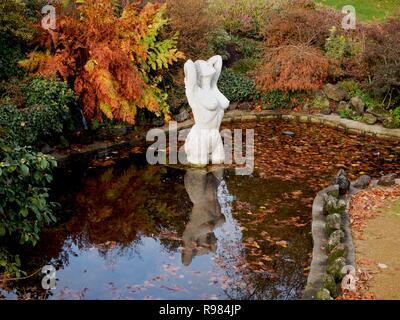 Statue in garden Lecoq, Clermont Ferrand, Puy de Dome, Auvergne Rhone Alpes, France - Stock Photo