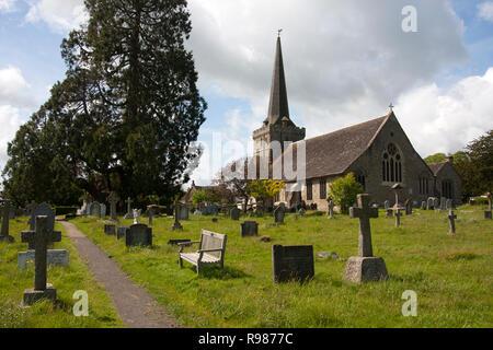 11th century Holy Trinity Church, Cuckfield, Haywards Heath, West Sussex,  England - Stock Photo