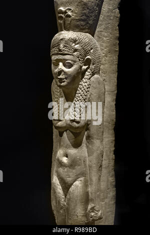 Queen; Cleopatra II; Cleopatra III 83 x 14 x 20.5 cm; c. 75 kg Period: Greco-Roman Period; Ptolemae time; 250-2  Egypt, Egyptian. - Stock Photo