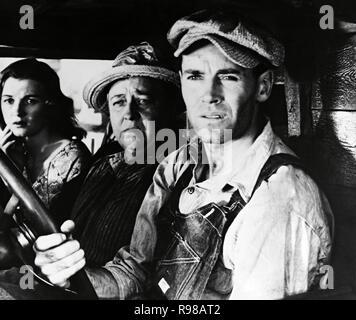 Original film title: THE GRAPES OF WRATH. English title: THE GRAPES OF WRATH. Year: 1940. Director: JOHN FORD. Stars: HENRY FONDA; JANE DARWELL; DORRIS BOWDON. Credit: 20TH CENTURY FOX / Album - Stock Photo
