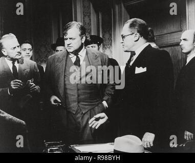 Original film title: COMPULSION. English title: COMPULSION. Year: 1959. Director: RICHARD FLEISCHER. Stars: ORSON WELLES; E. G. MARSHALL. Credit: 20TH CENTURY FOX / Album - Stock Photo