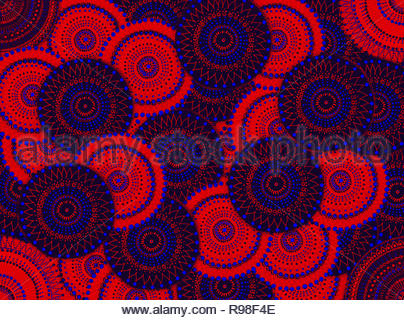 Colors and circles in lock - Stock Photo