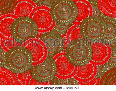 Strange circles in collusion - Stock Photo