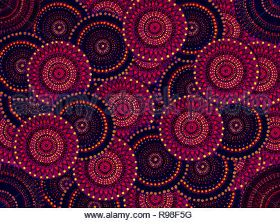Circles and dots in tesselations - Stock Photo