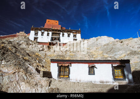 Gyantse, Shigatse Prefecture, Tibet Autonomous Region, China : Buildings within and walls of the Palcho Monastery or Pelkor Chode Monastery mostly bui - Stock Photo