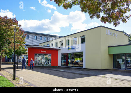 Yate Library, West Walk, Yate Shopping Centre, Kennedy Way, Yate, Gloucestershire, England, United Kingdom - Stock Photo