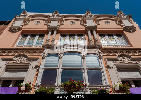 CARTAGENA, SPAIN – APRIL 12, 2017: Facade of the Clares House. It was designed by the architect Mario Spottorno in 1907 - Stock Photo