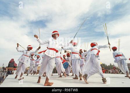 bhil adivasi dance, madhya pradesh, india - Stock Photo