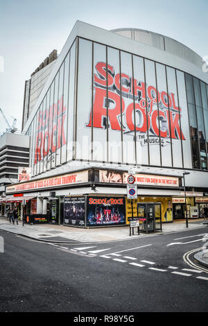 School of Rock, the Musical at the Gillian Lynne Theatre, Drury Lane, London, UK - Stock Photo
