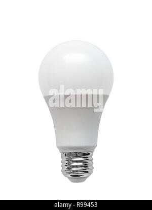 Energy efficient Light Emitting Diode LED light bulb isolated on white background. - Stock Photo