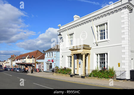 High Street, Thornbury, Gloucestershire, England, United Kingdom - Stock Photo