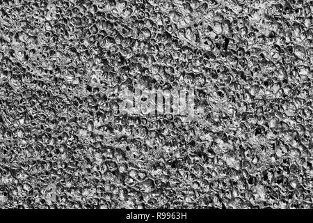 aluminum alu foam bubble metal plate wallpaper background - Stock Photo