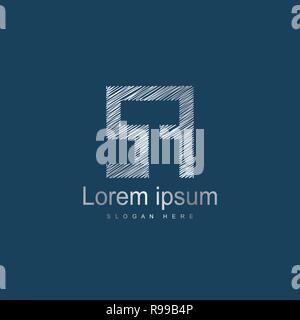 Initial Letter SA Logo Template Vector Design. Silver letter logo - Stock Photo