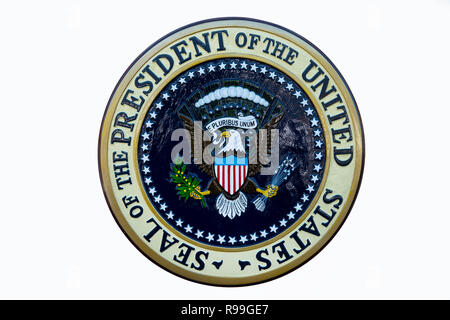 USA The Seal of the President of the United States of America Presidential emblem - Stock Photo