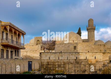 Rear view of the Palace of the Shirvanshahs, Baku, Azerbaijan - Stock Photo