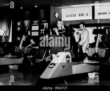 ewa aulin, jean-louis trintignant, with heart in mouth, 1967 - Stock Photo