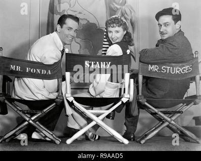 Original film title: THE LADY EVE. English title: THE LADY EVE. Year: 1941. Director: PRESTON STURGES. Stars: HENRY FONDA; BARBARA STANWYCK; PRESTON STURGES. Credit: PARAMOUNT PICTURES / Album - Stock Photo